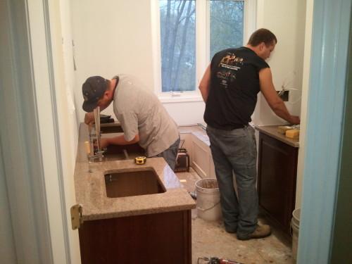 Installing Quartz Countertops in a Bathroom Renovation