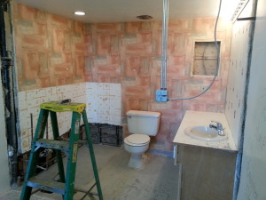 It is often possible to keep a working toilet during even a substantial bathroom renovation project