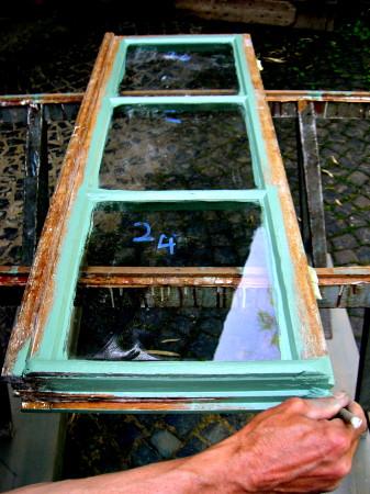 Linseed Oil Paint on Historic Window