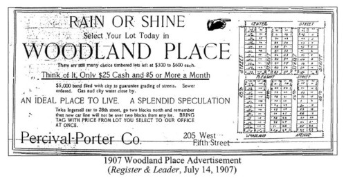 Woodland Place Advertisement