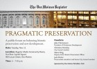 Preservation Forum Invitation